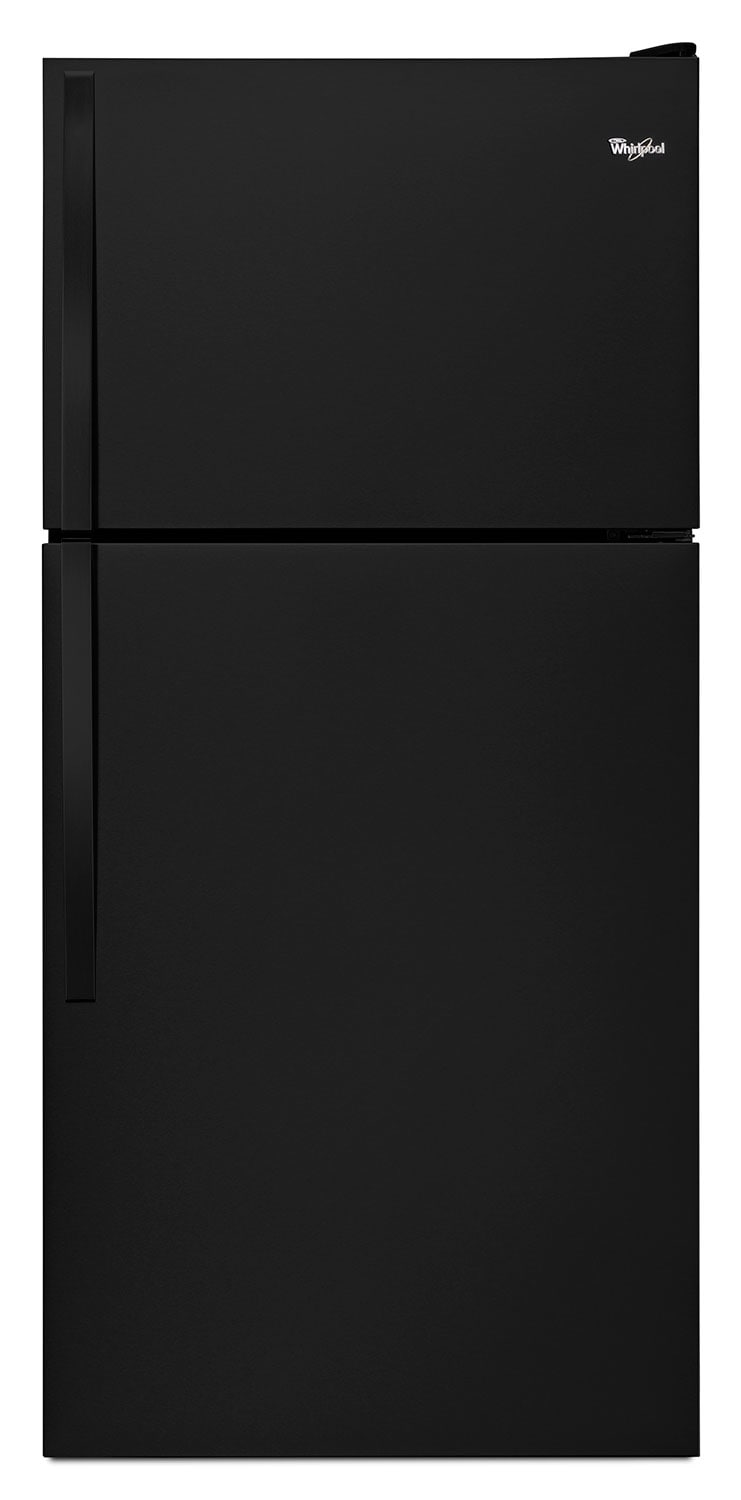 "Whirlpool® 18.2 Cu. Ft. 30"" Wide-Top Freezer Refrigerator – Black"
