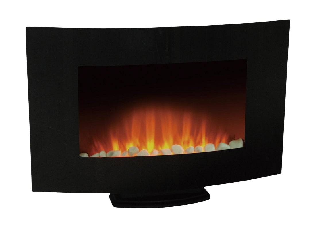 "Accent and Occasional Furniture - Venus 35"" Wall-Mount Electric Fireplace with Stand"