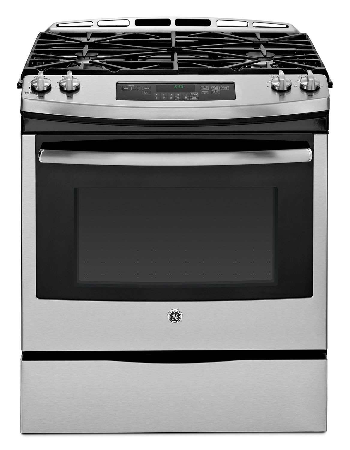 GE 5.6 Cu. Ft. Slide-In Gas Range - Stainless Steel