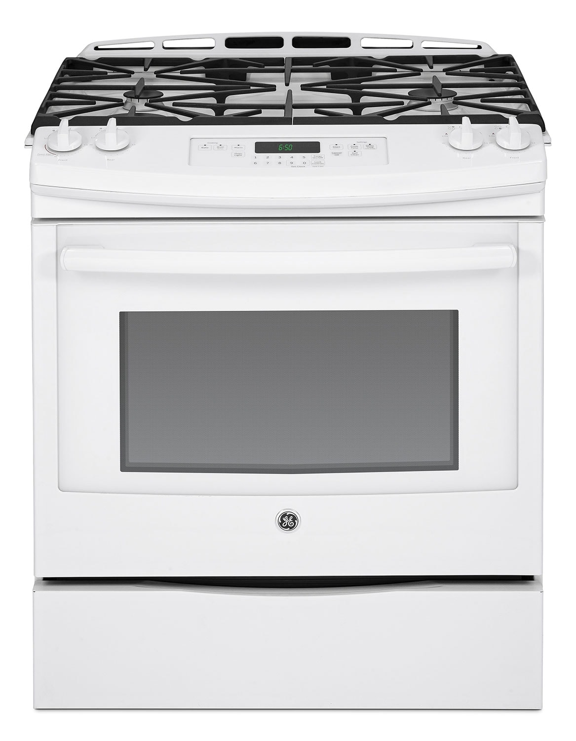 Cooking Products - GE 5.6 Cu. Ft. Slide-In Gas Range - White