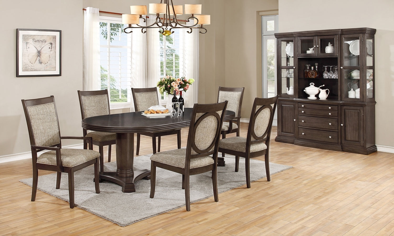Dining Room Furniture - Beaumont 9-Piece Dining Package