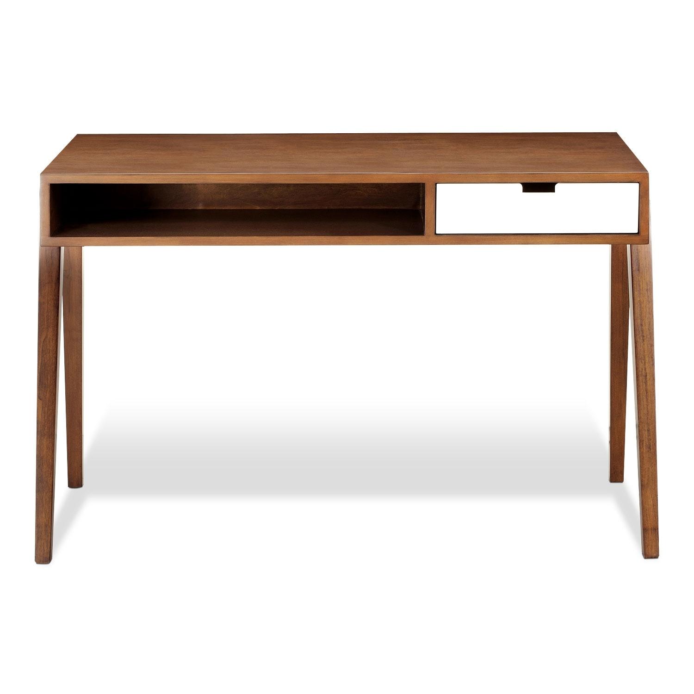 Bradford desk walnut value city furniture - Value city office desk ...