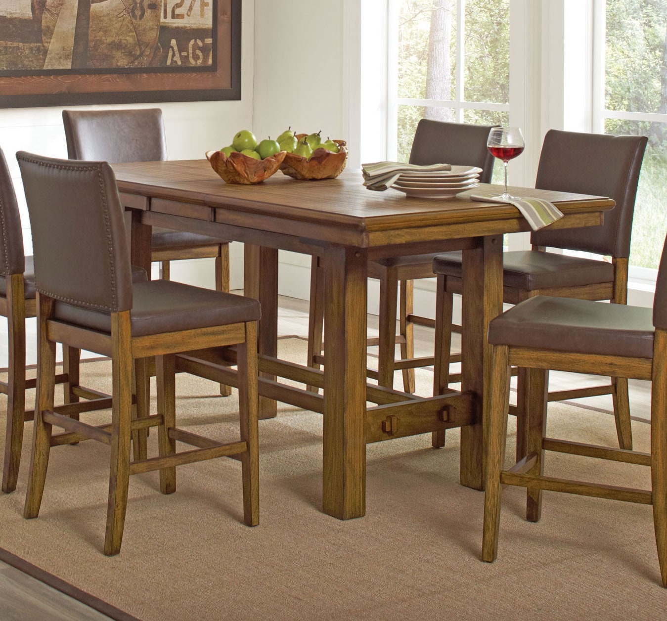 Dining Room Furniture - Aiko 5-Piece Counter-Height Dining Package