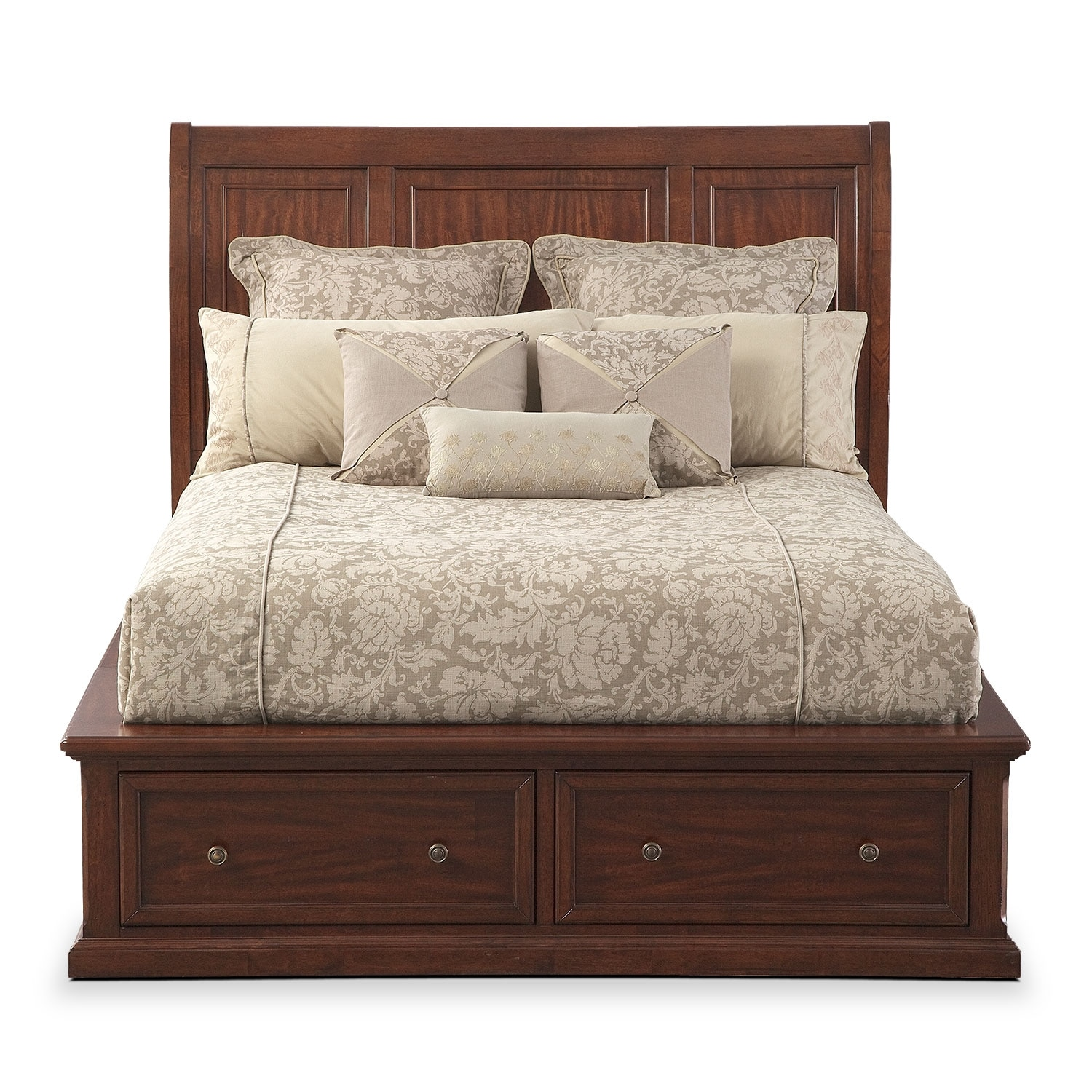 Hanover King Storage Bed Cherry American Signature
