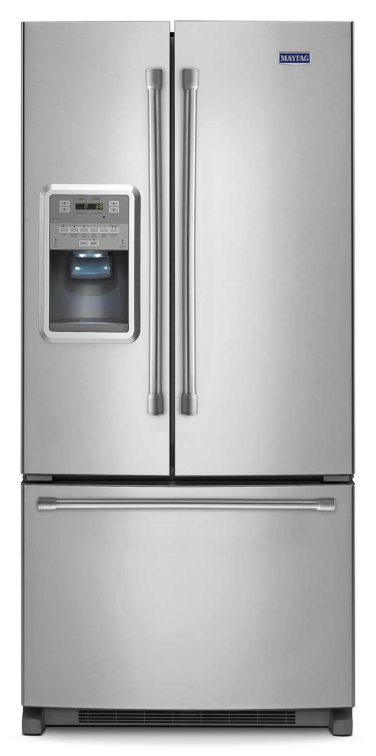 Refrigerators and Freezers - Maytag® 21.7 Cu. Ft. French Door Refrigerator - Stainless Steel