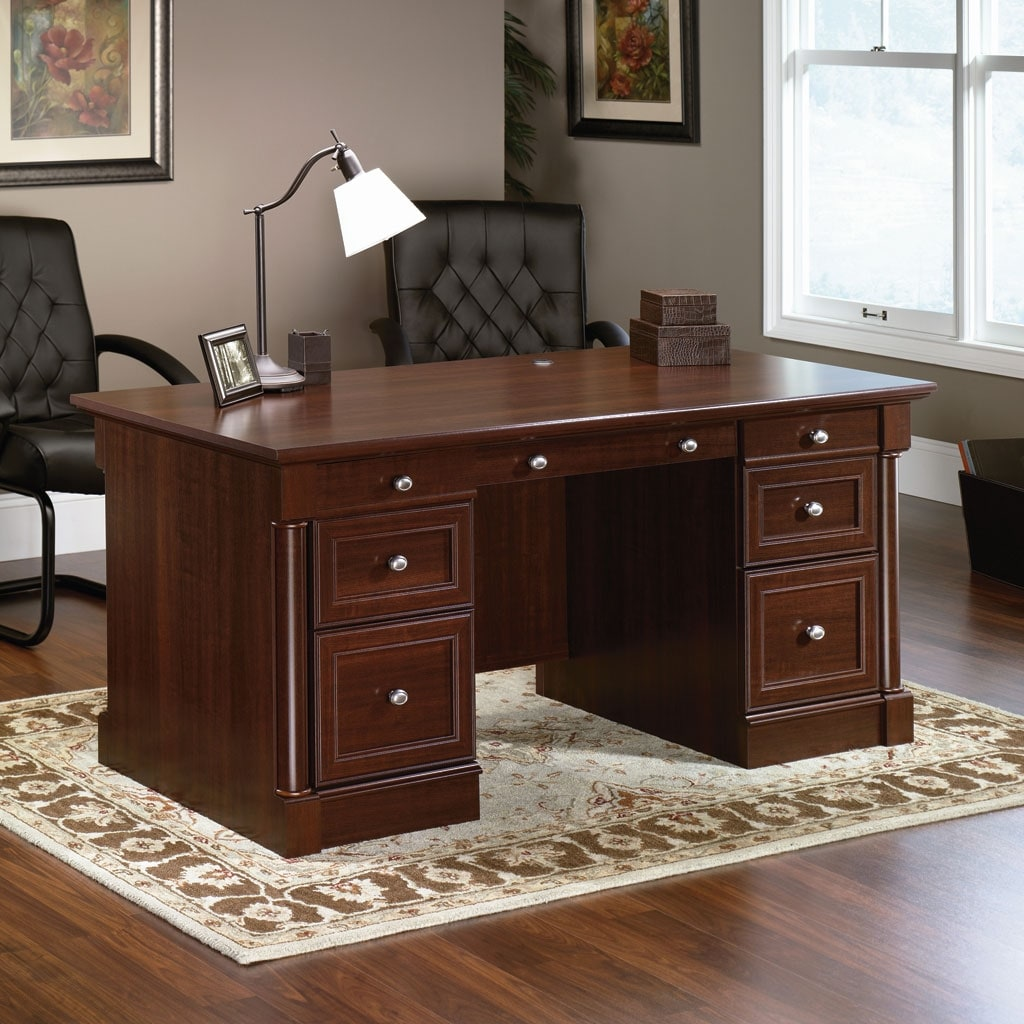 Executive Office Furniture: Palladia Executive Desk - Select Cherry