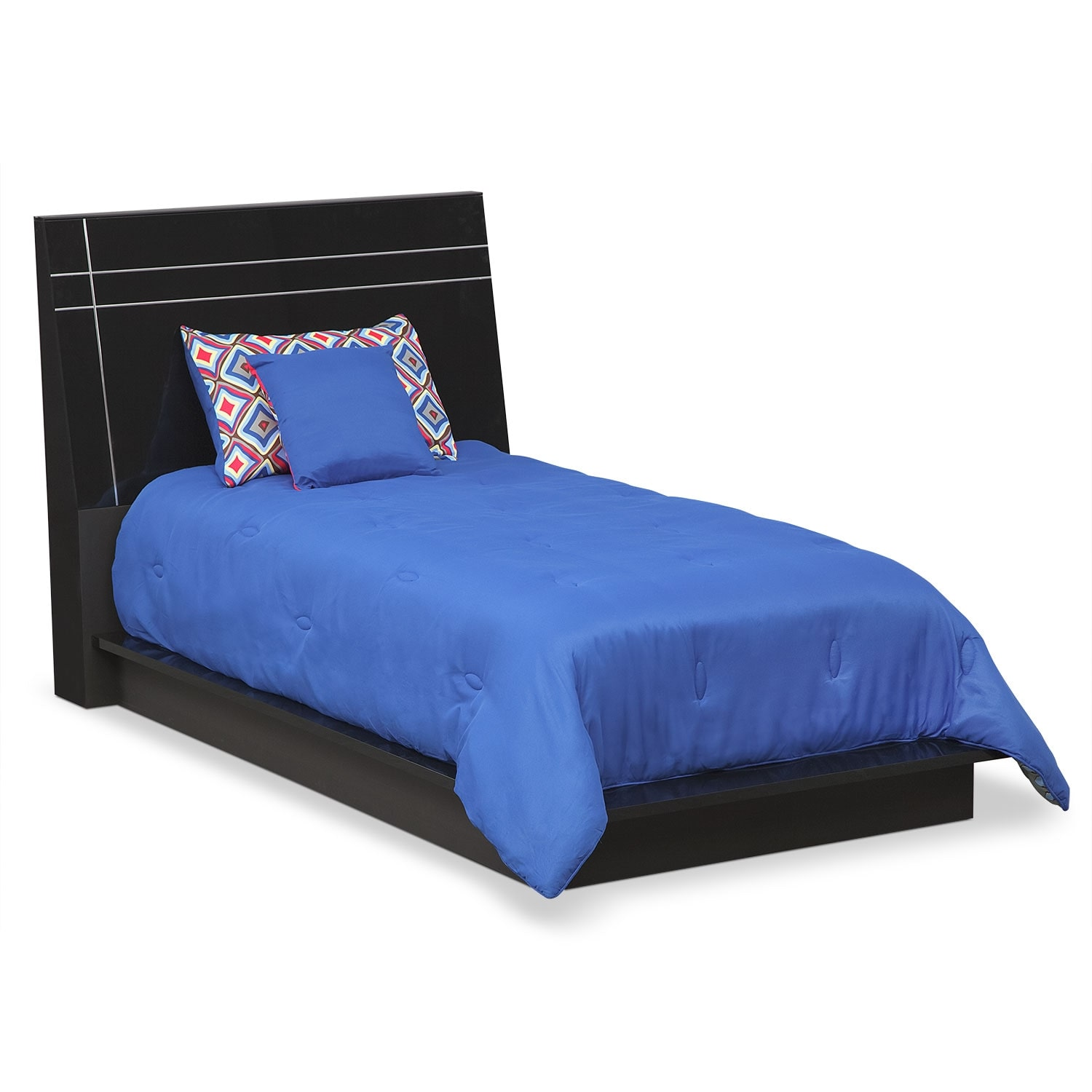 Dimora black ii twin bed value city furniture Black twin bed
