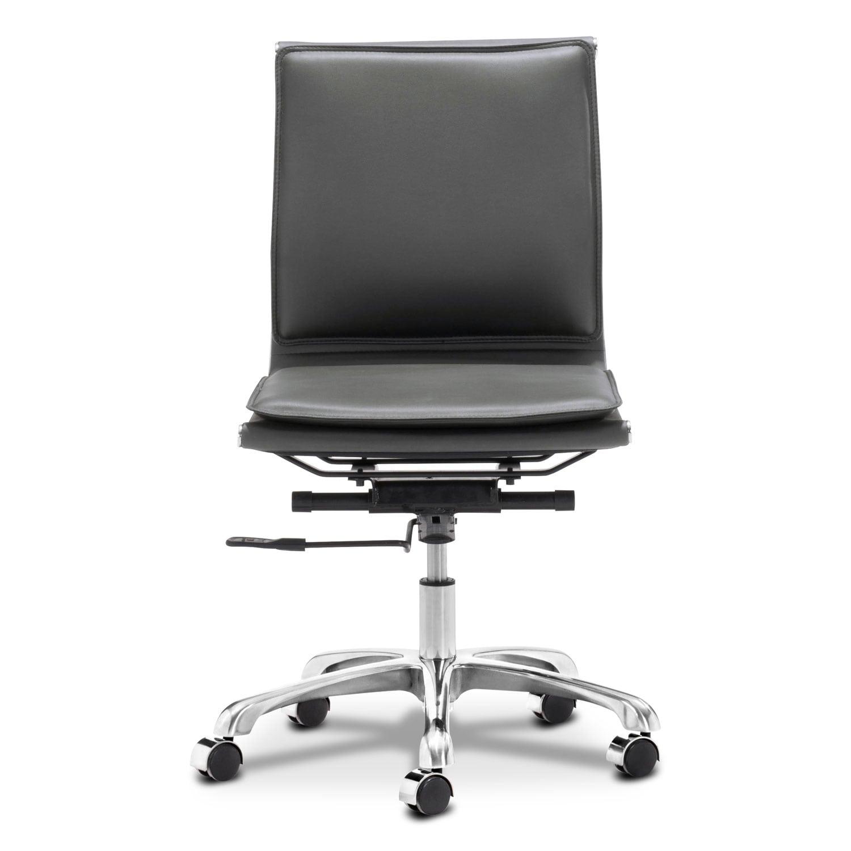Nelson office chair black value city furniture - Value city office desk ...