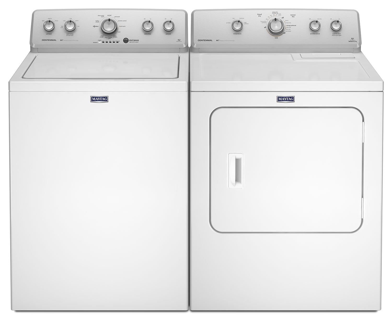 Washers and Dryers - Maytag® 4.2 Cu. Ft. Top-Load Washing Machine and 7.0 Cu. Ft. Gas Dryer - White