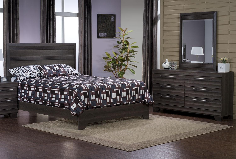 Bedroom Furniture - Olivia 5-Piece Queen Bedroom Package – Grey