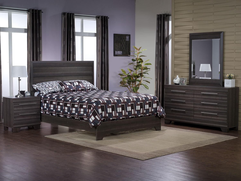 Olivia 6-Piece Queen Bedroom Package – Grey