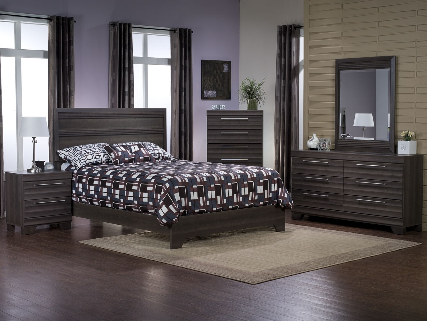 Olivia 7-Piece Queen Bedroom Package – Grey