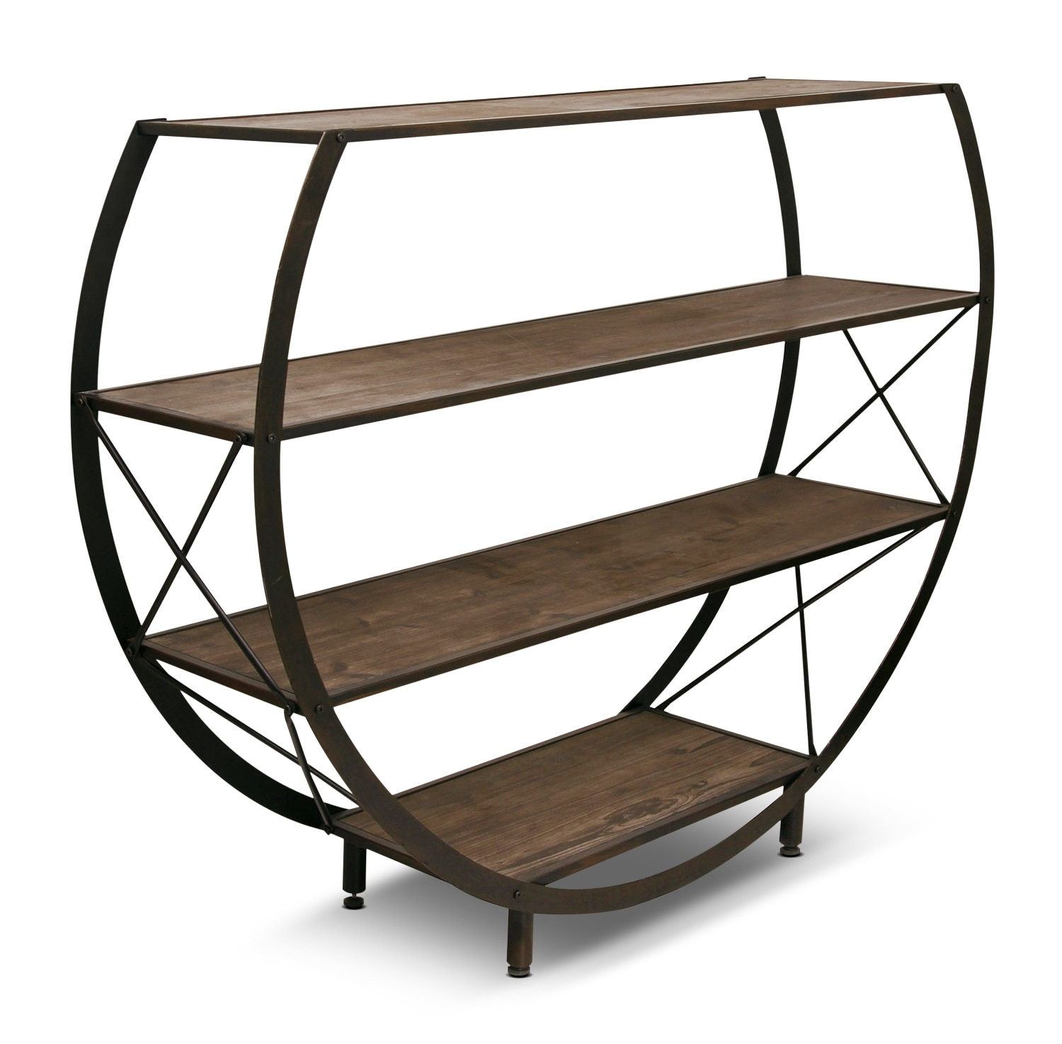 Accent and Occasional Furniture - Santa Monica Circle Bookcase