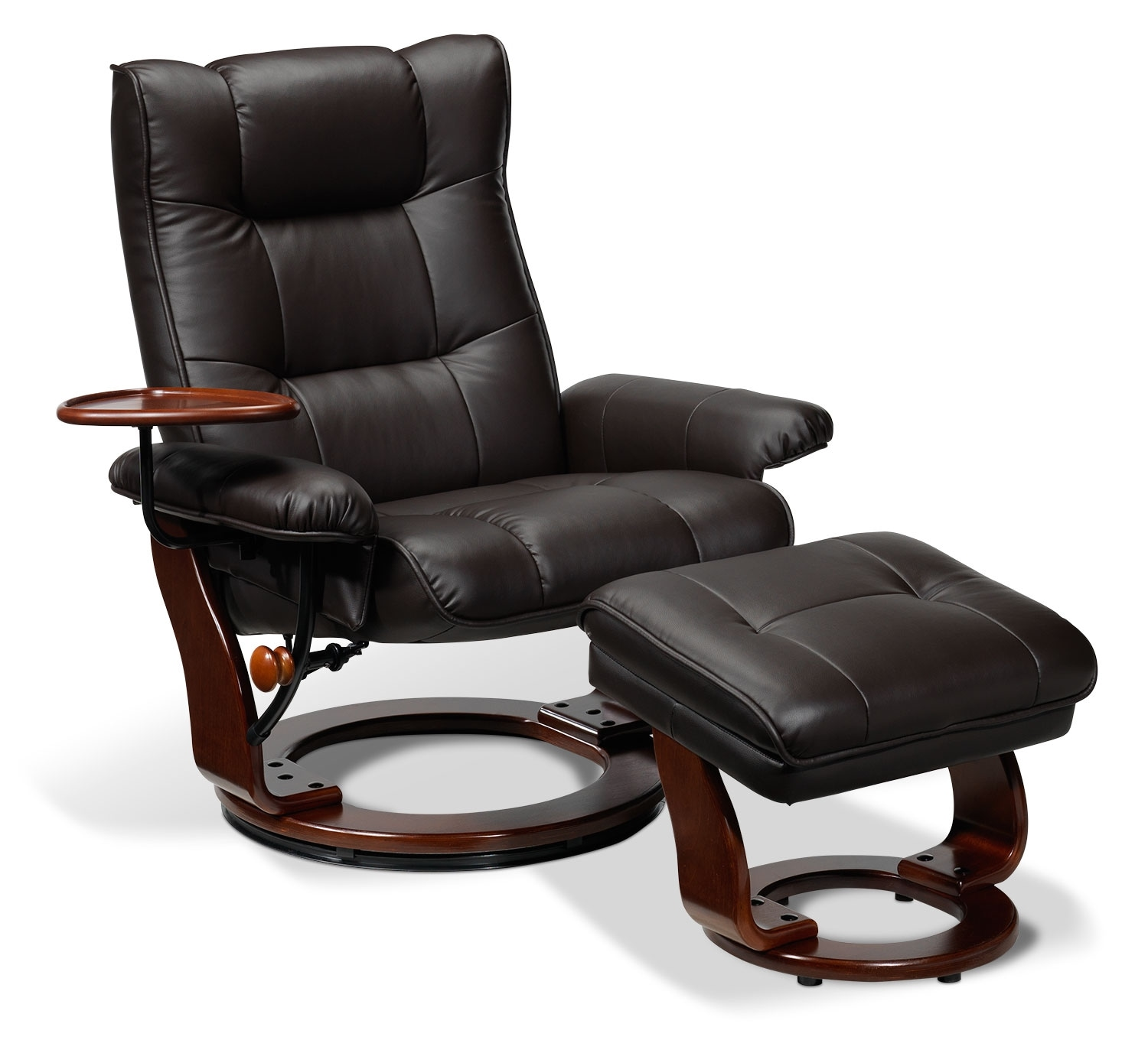 [Canora Chair and Ottoman - Deep Espresso]