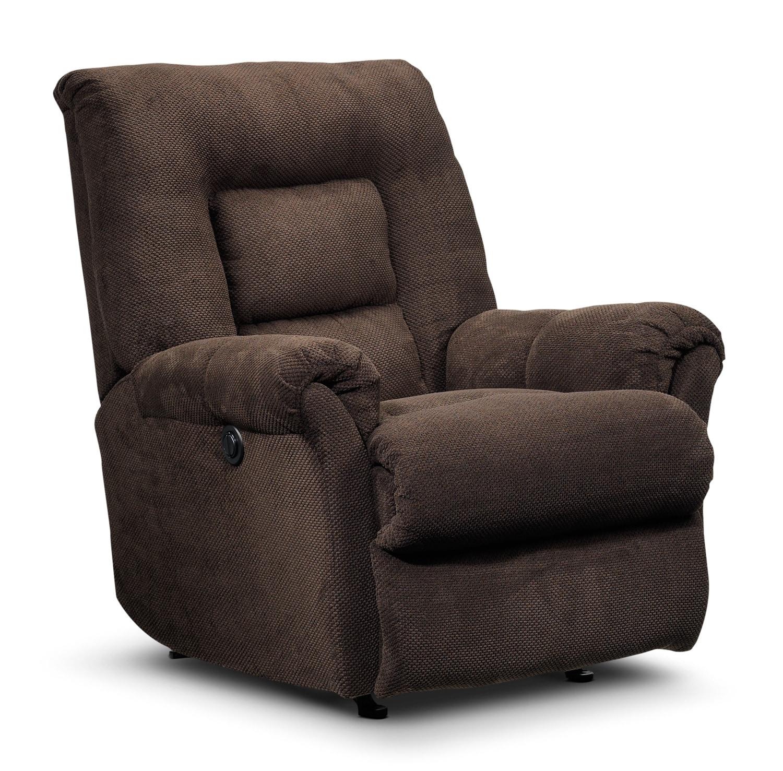 Living Room Furniture - Schmidt Power Recliner - Chocolate