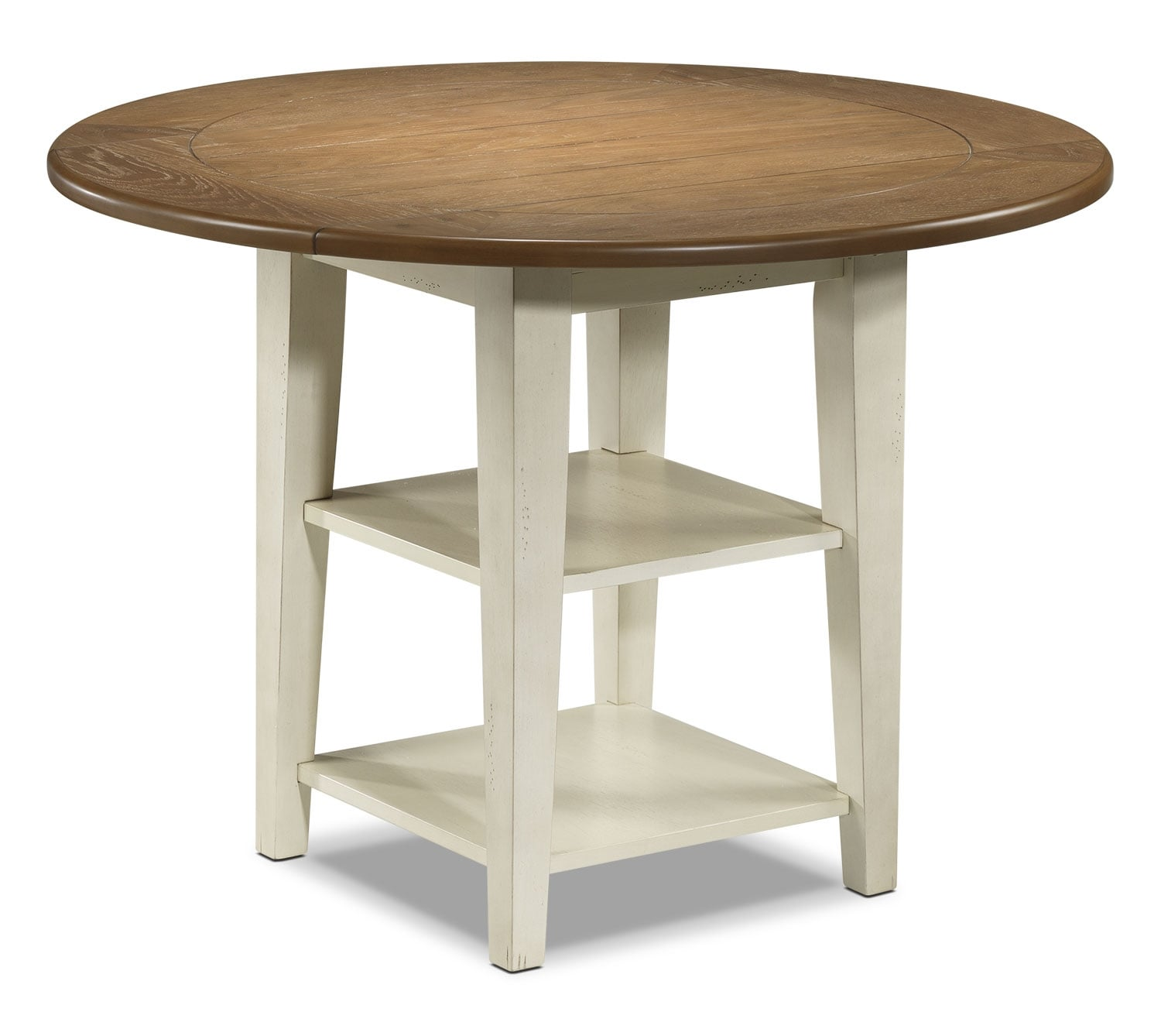 Casual Dining Room Furniture - Fresco Table - Driftwood, Cream