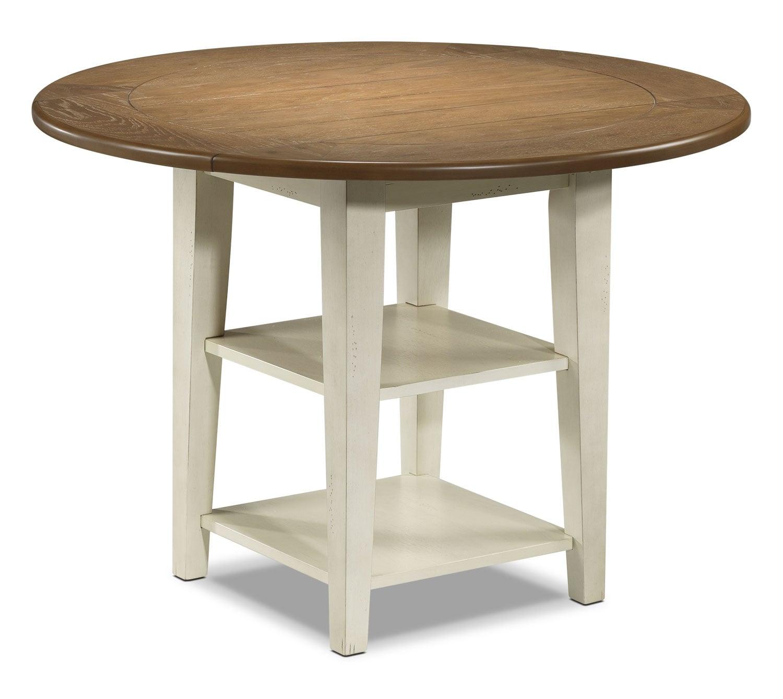 Fresco table driftwood cream leon 39 s for Cream dining table