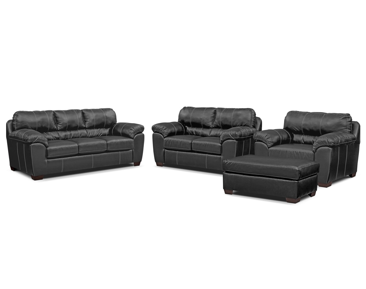 Living Room Furniture - The Henson Black Collection - Sofa