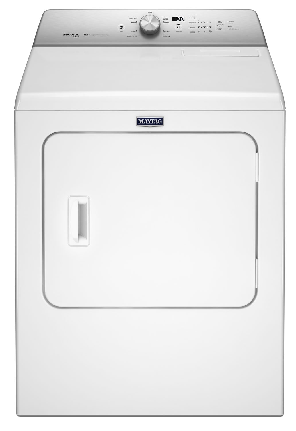 Washers and Dryers - Maytag® 7.0 Cu. Ft. Steam Gas Dryer - White