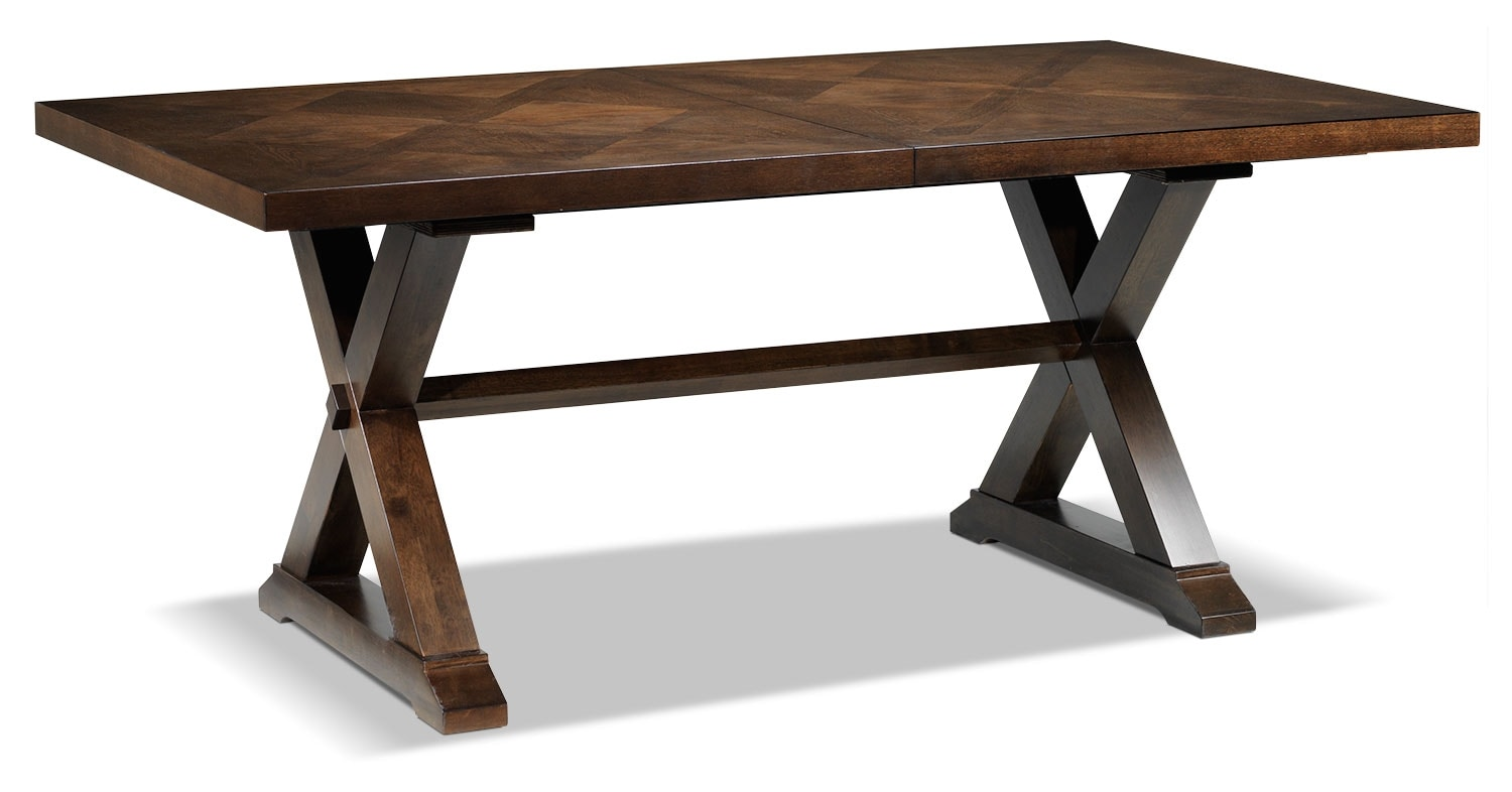 Claira table rustic brown leon 39 s for Leon s dining room tables