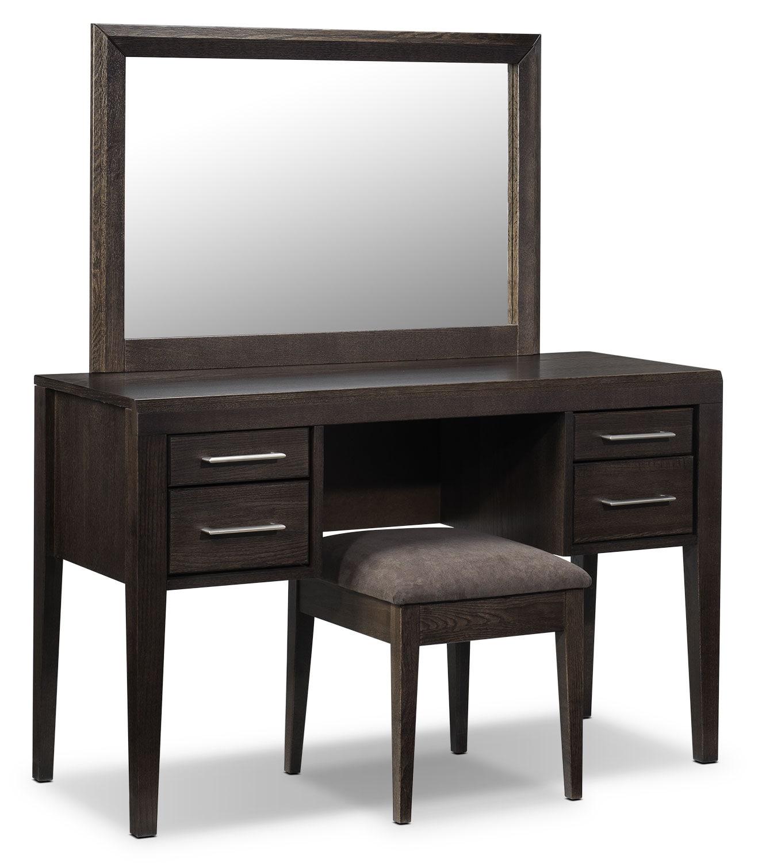 Bedroom Furniture - Hawkins 3-Piece Vanity Set - Espresso