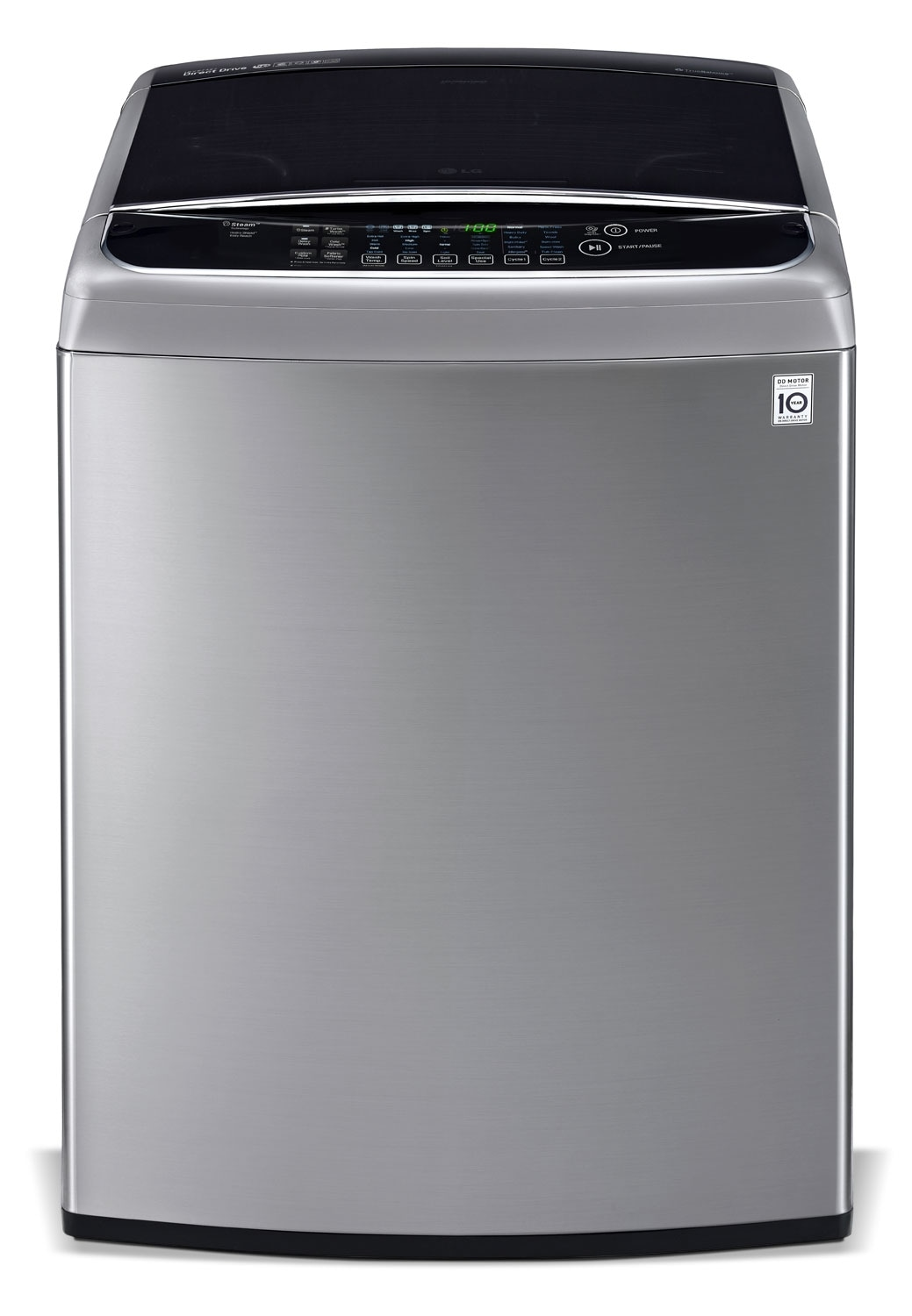 Washers and Dryers - LG Appliances Graphite Steel Top-Load Washer (5.8 Cu. Ft. IEC) - WT1801HVA
