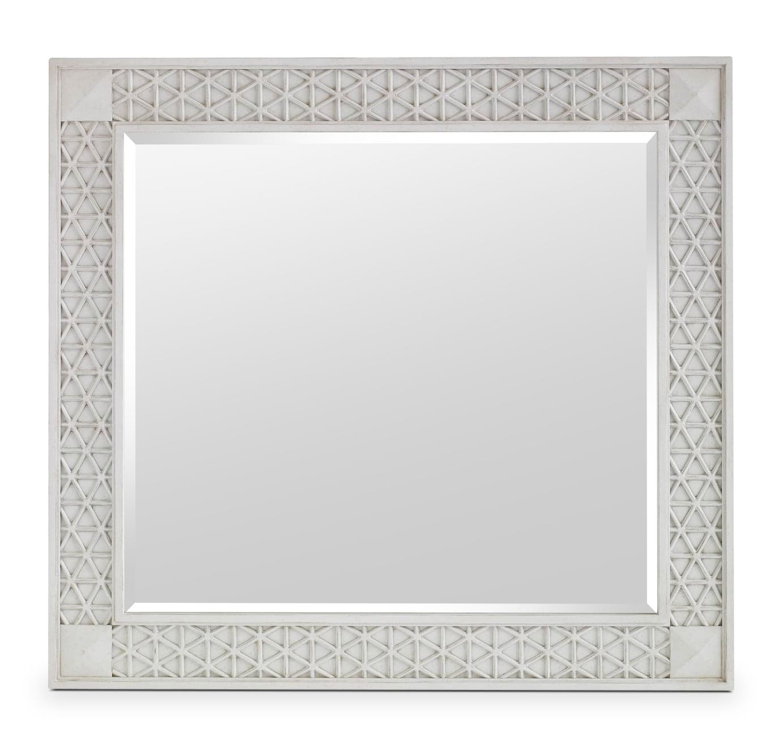 Bedroom Furniture - Cypress Grove Mirror - White Glaze