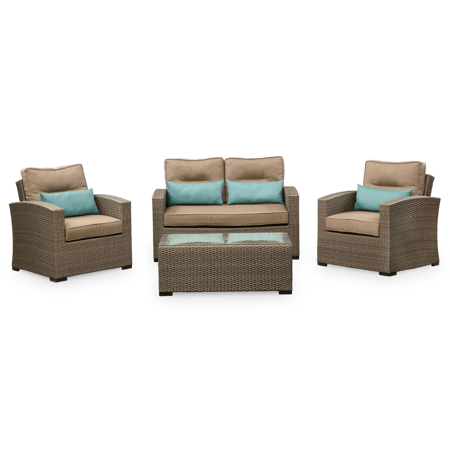 Patio Furniture For Living Room: Corona Outdoor Furniture 4 Pc. Outdoor Living Room