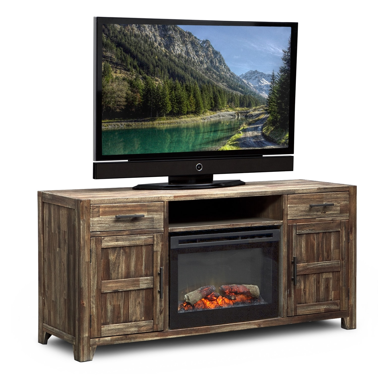 Hutchinson Fireplace Tv Stand W Traditional Insert