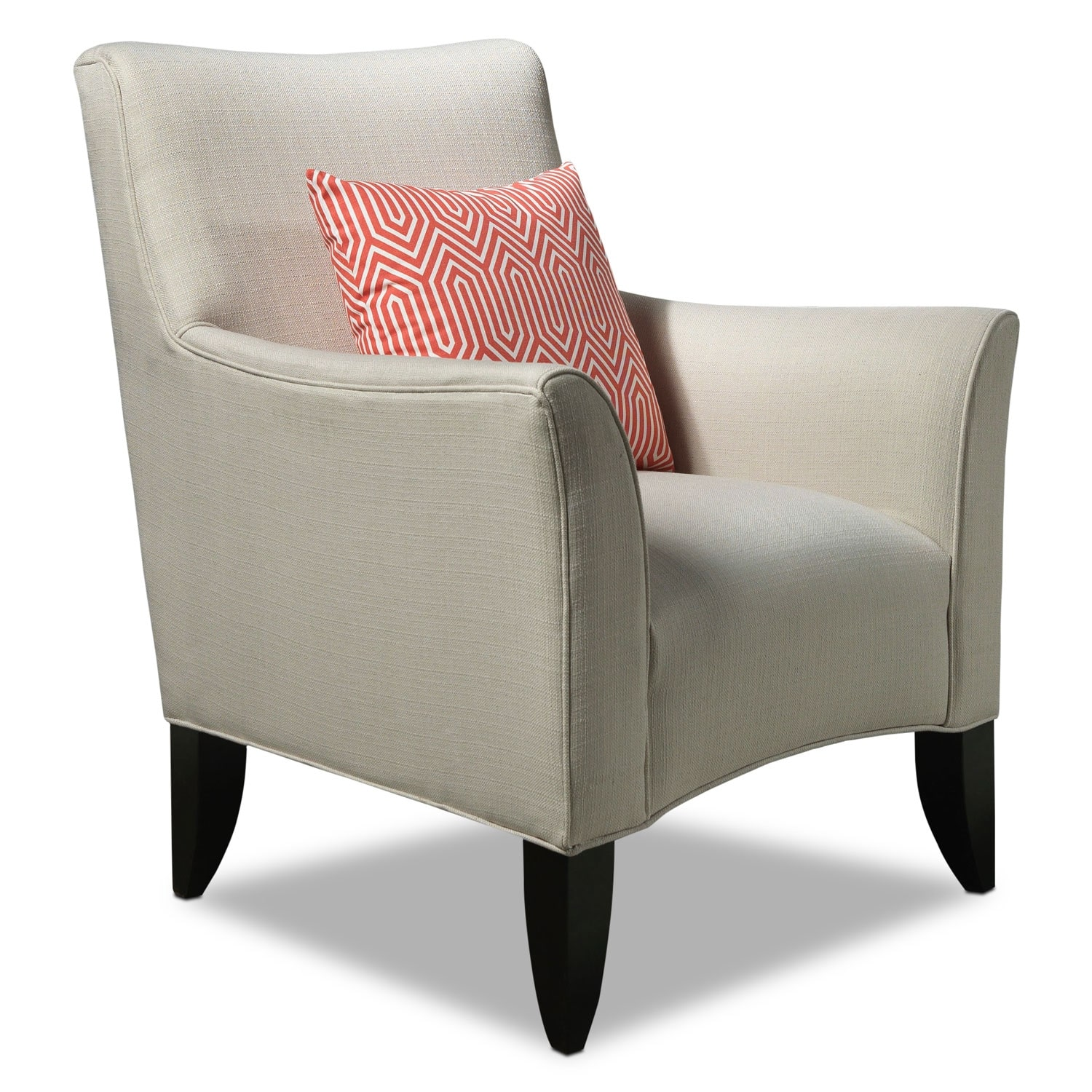 Living Room Furniture - Klein Accent Chair - Ivory