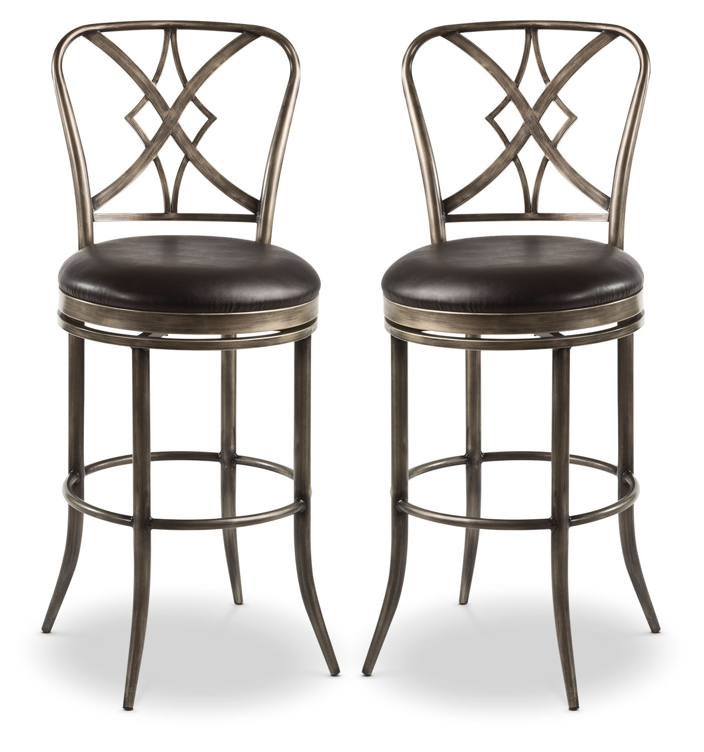 Dining Room Furniture - Jaqueline Counter-Height Swivel Stool – Set of 2