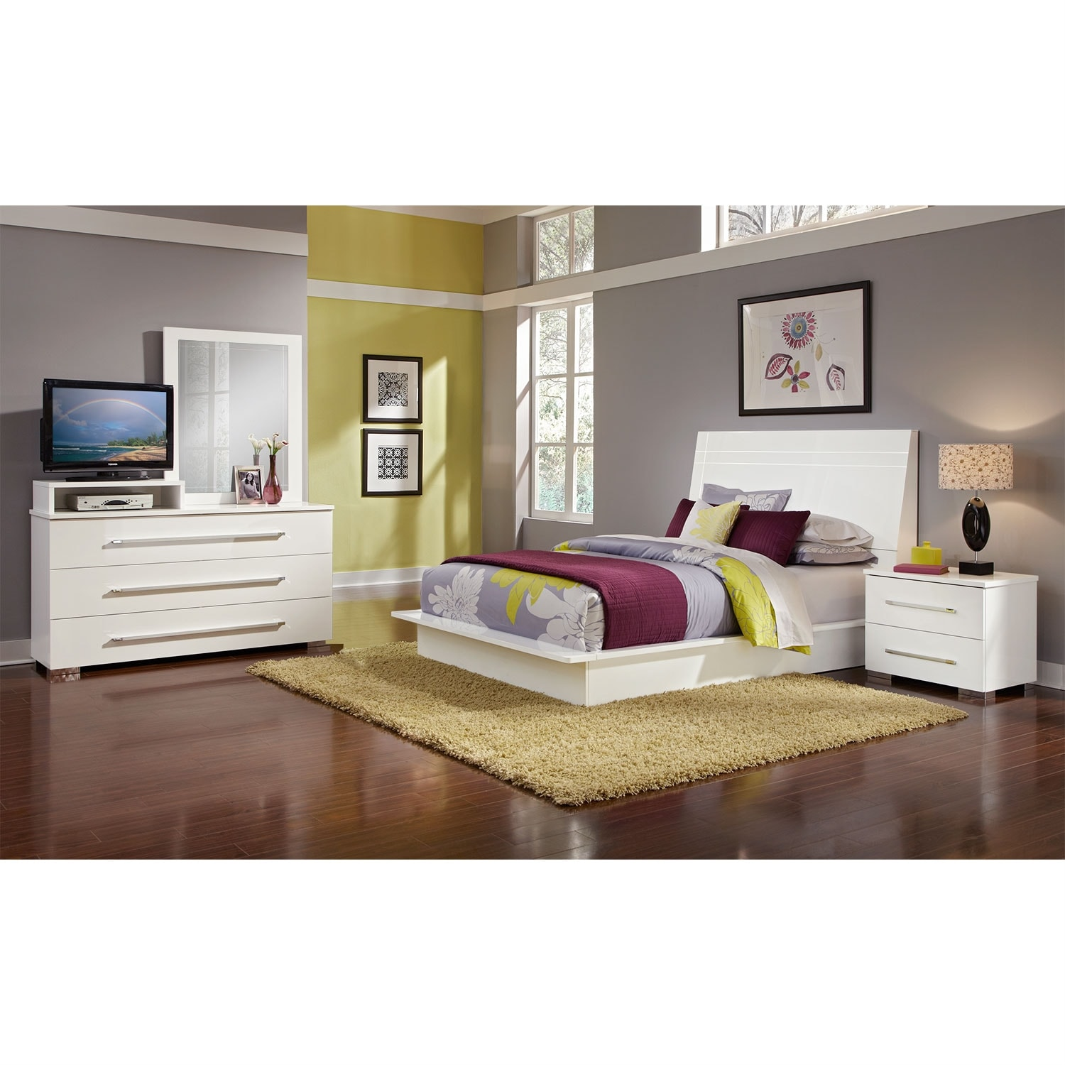 Dimora White II 6 Pc. Queen Bedroom  Value City Furniture