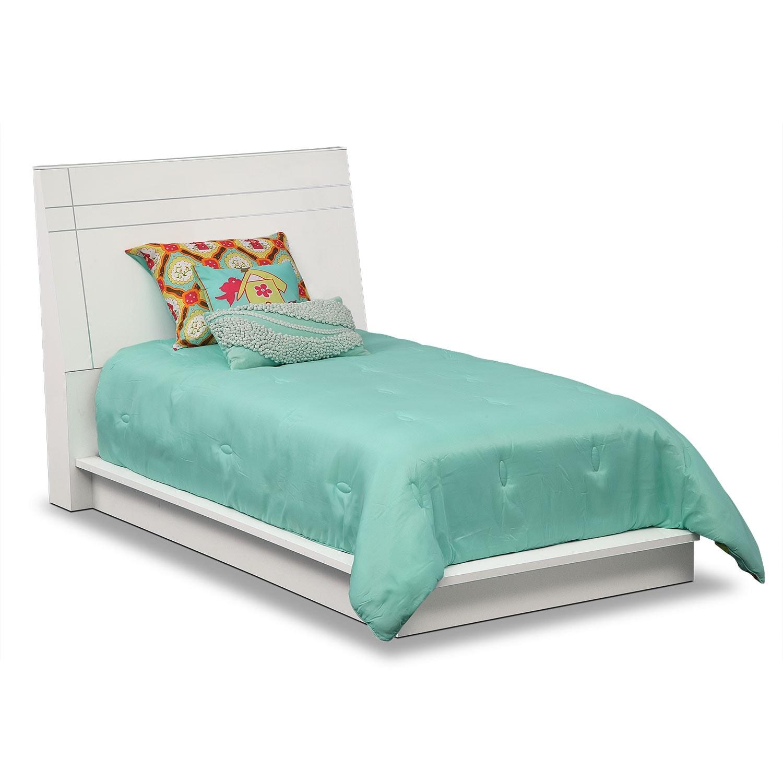 Dimora Twin Panel Bed White Value City Furniture