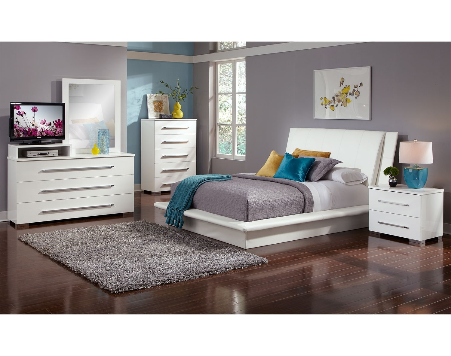 Bedroom Furniture - The Prima White Collection - Queen Bed