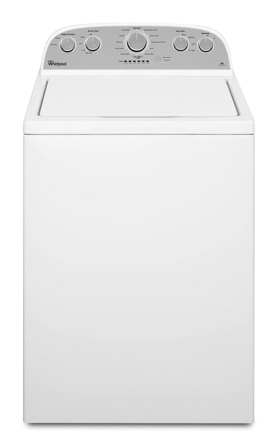 Washers and Dryers - Whirlpool 4.3 Cu. Ft. Top-Load Washer – WTW4915EW