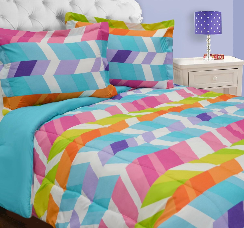 Mattresses and Bedding - Herringbone 2-Piece Twin Comforter Set