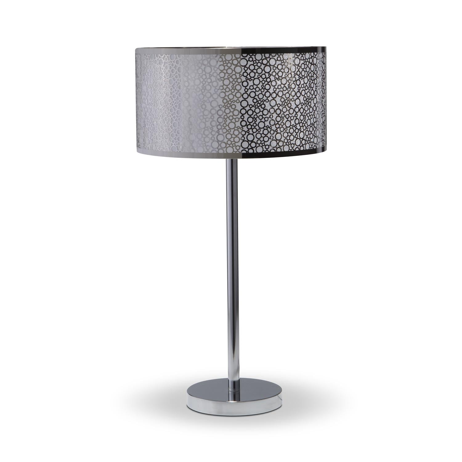 Accent Lighting Of Contemporary Table Lamps For Living: Silver Circles Table Lamp