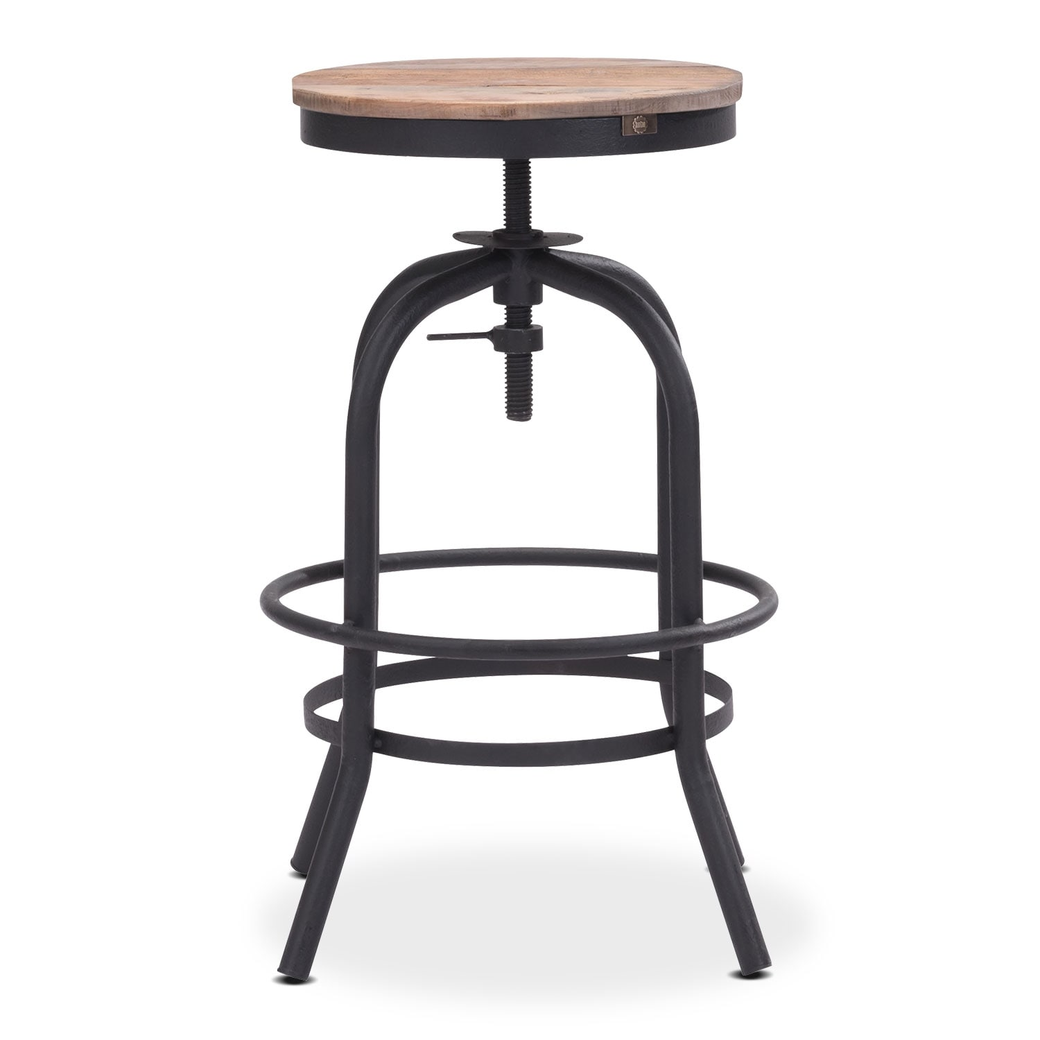 Elston Adjustable Backless Counter Height Stool Antiqued
