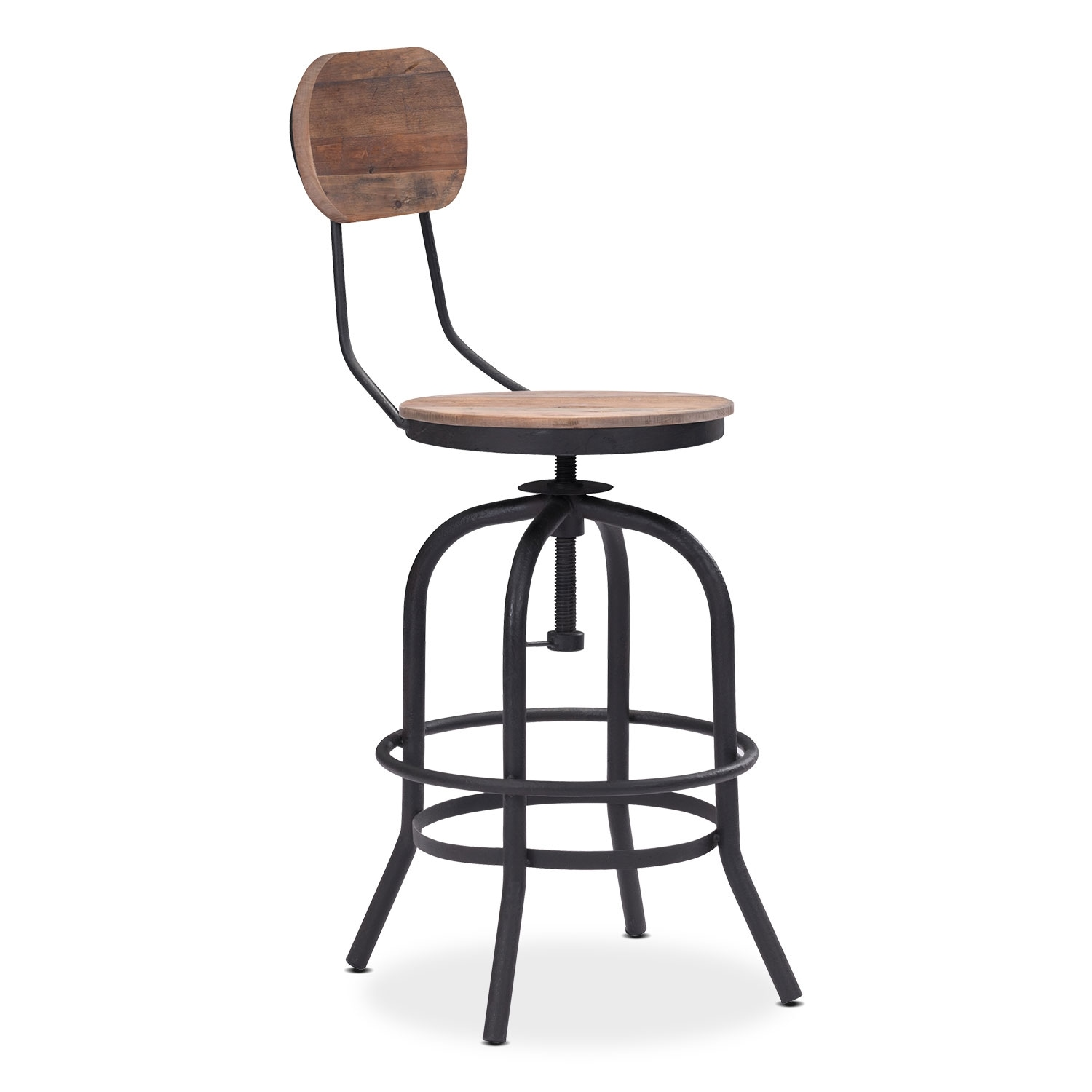 Elston Adjustable Counter Height Stool Value City Furniture