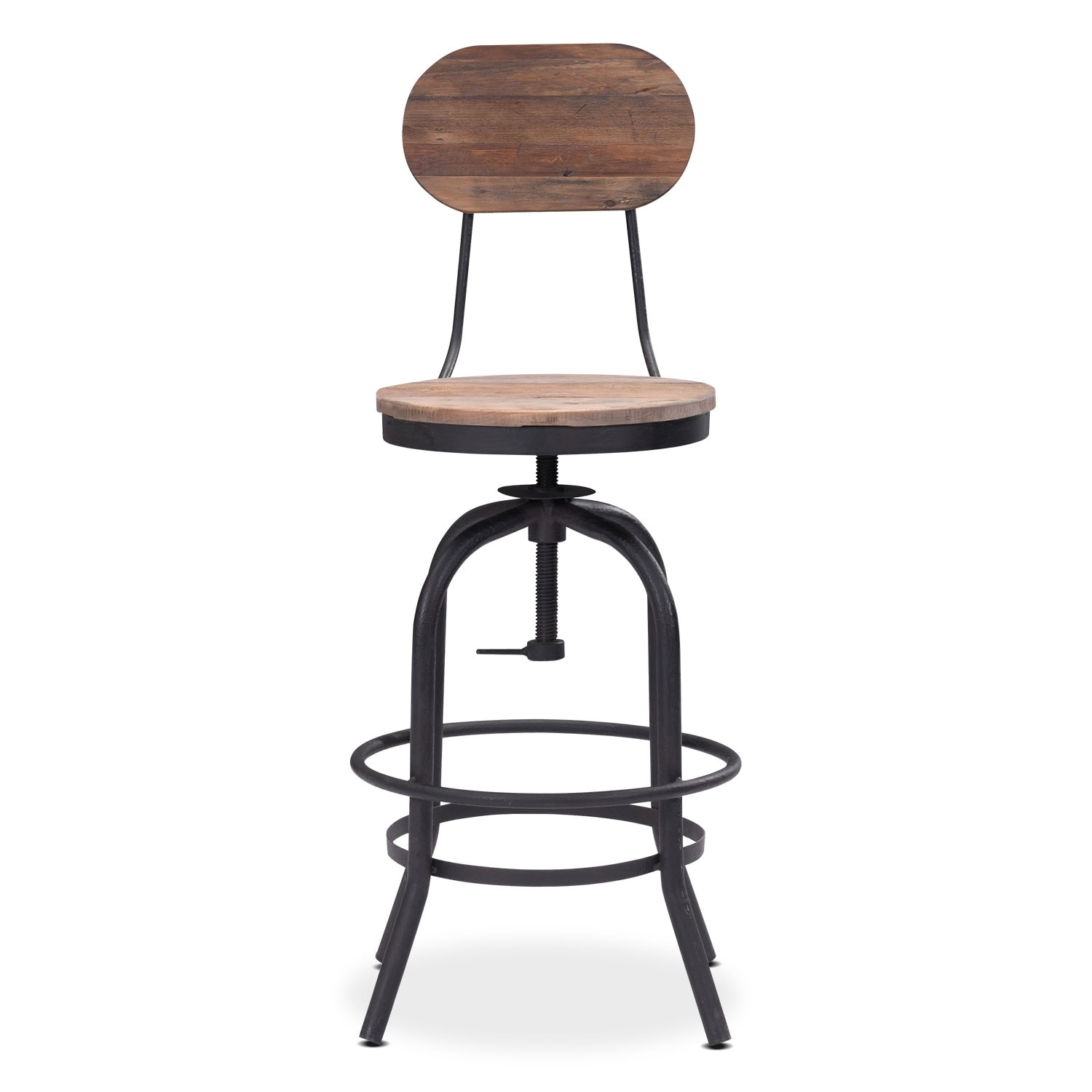 Elston Adjustable Counter Height Stool Antiqued Black