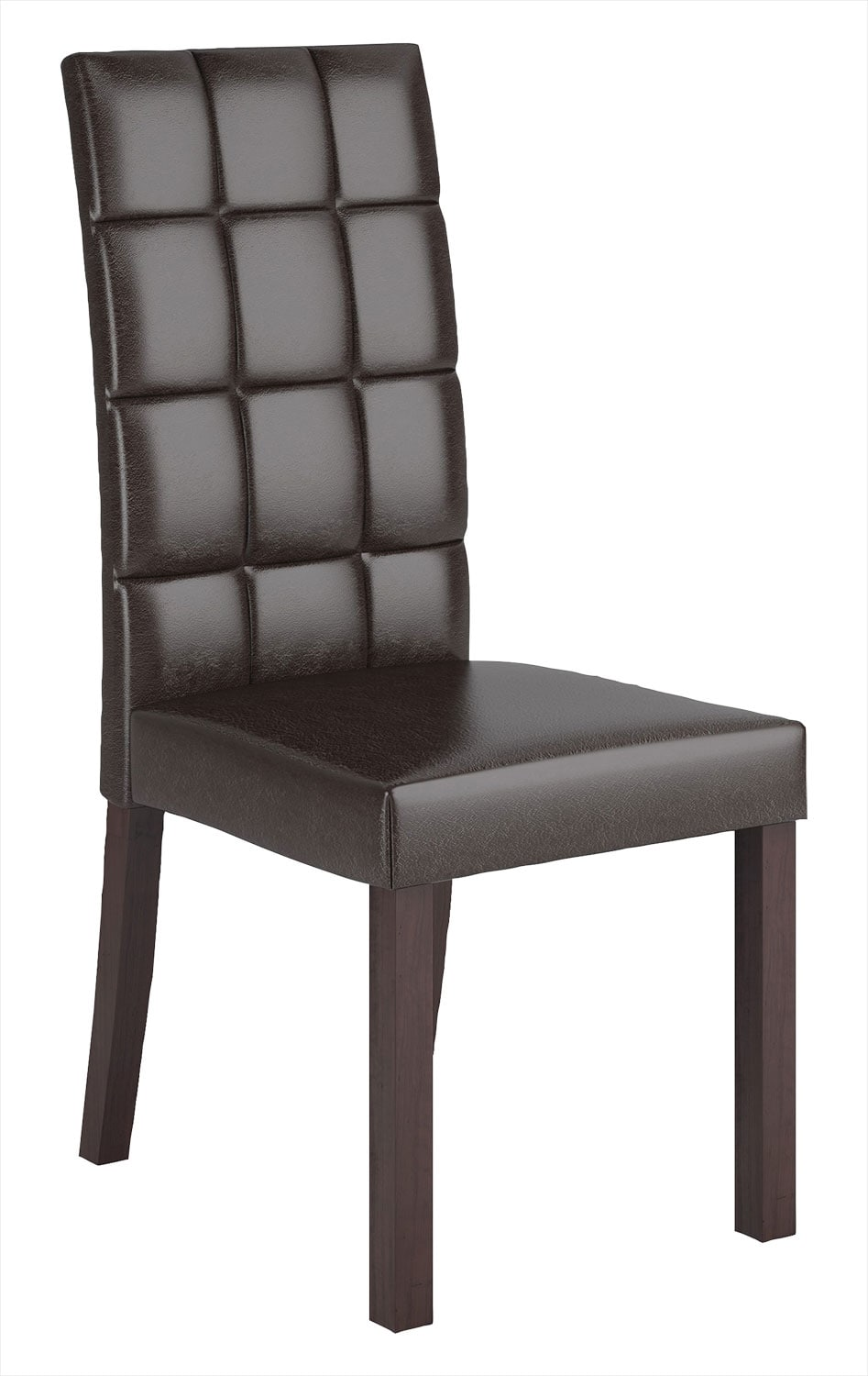 Atwood Faux Leather Dining Chair – Dark Brown