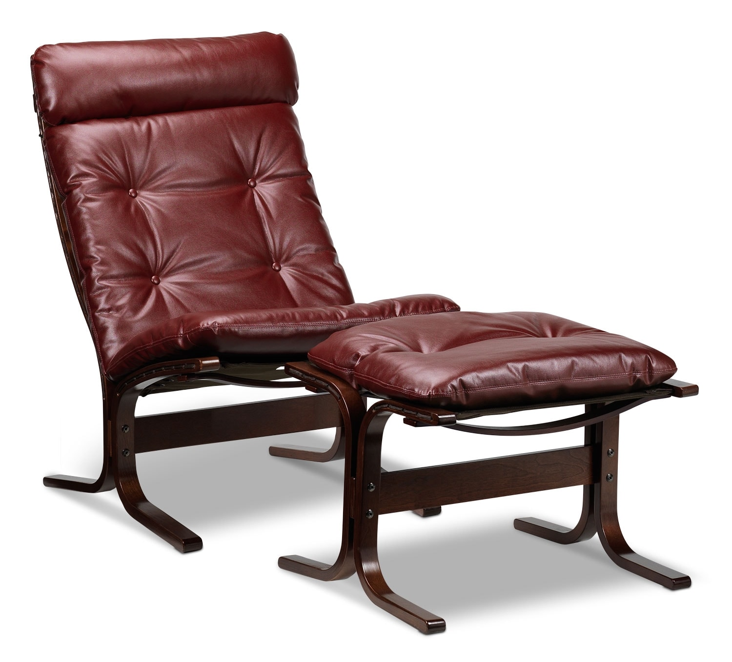 [Carey Chair and Ottoman - Ruby Red]