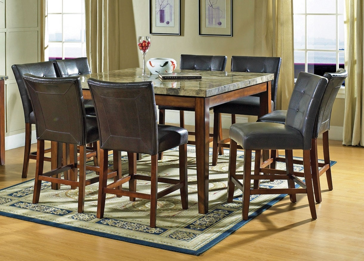 dining room furniture montibello 9 piece pub height dining package