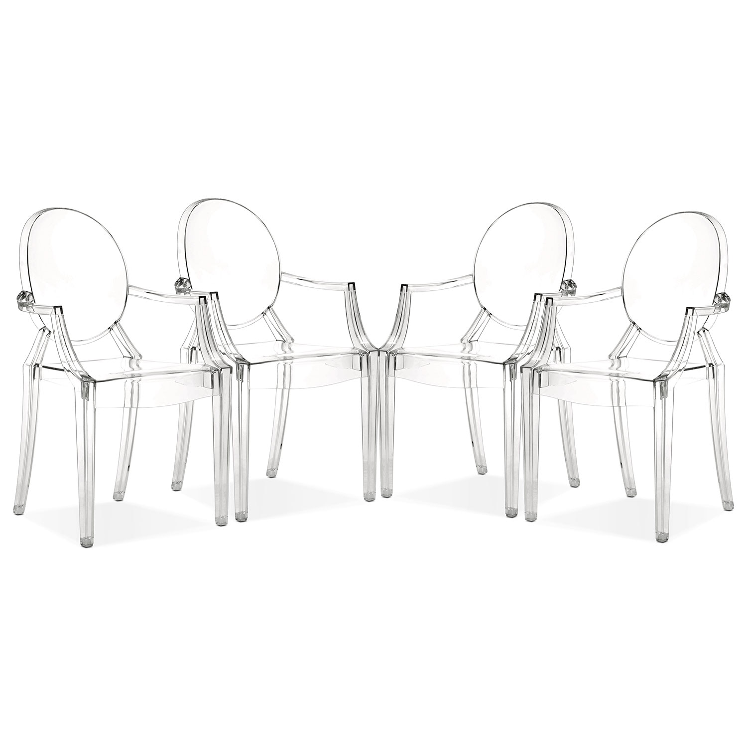 [Lucid 4-Pack Arm Chairs]