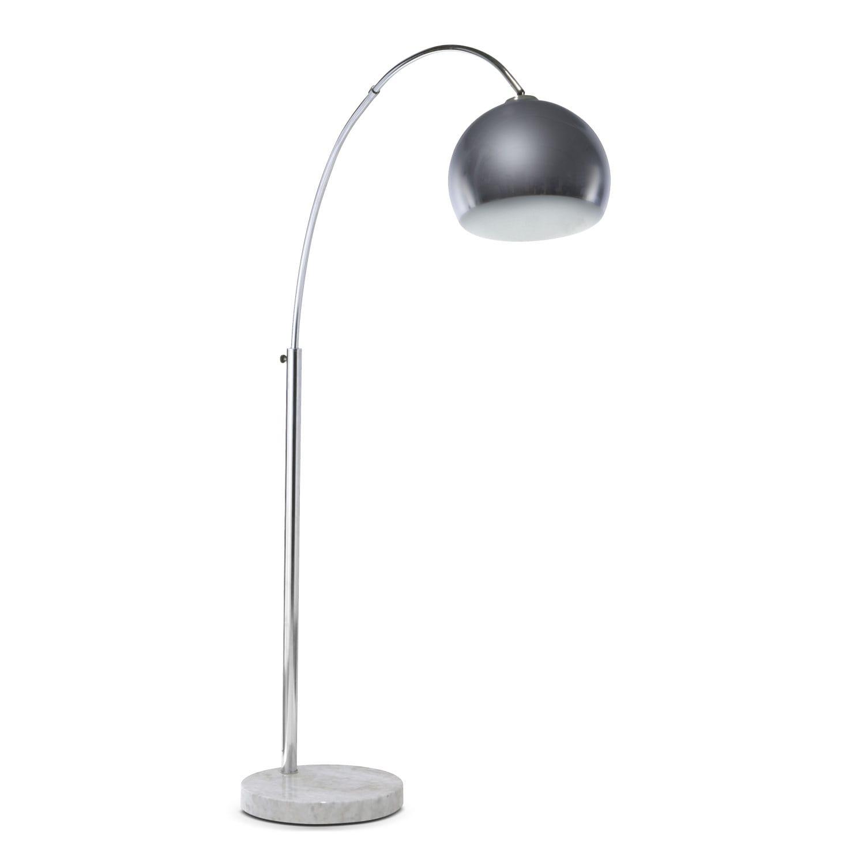 silver bowl arc floor lamp value city furniture. Black Bedroom Furniture Sets. Home Design Ideas