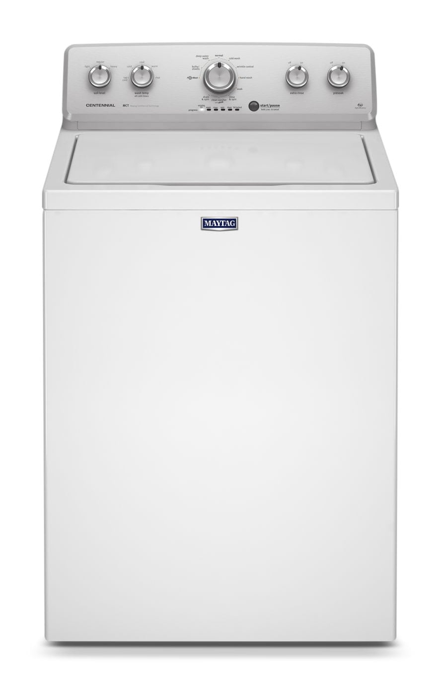 Washers and Dryers - Maytag White Top-Load Washer (4.2 Cu. Ft.) - MVWC415EW