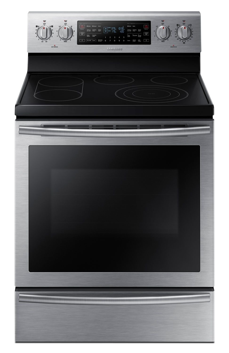 Samsung 5.9 Cu. Ft. Flex Duo™ Freestanding Electric Convection Range – Stainless Steel