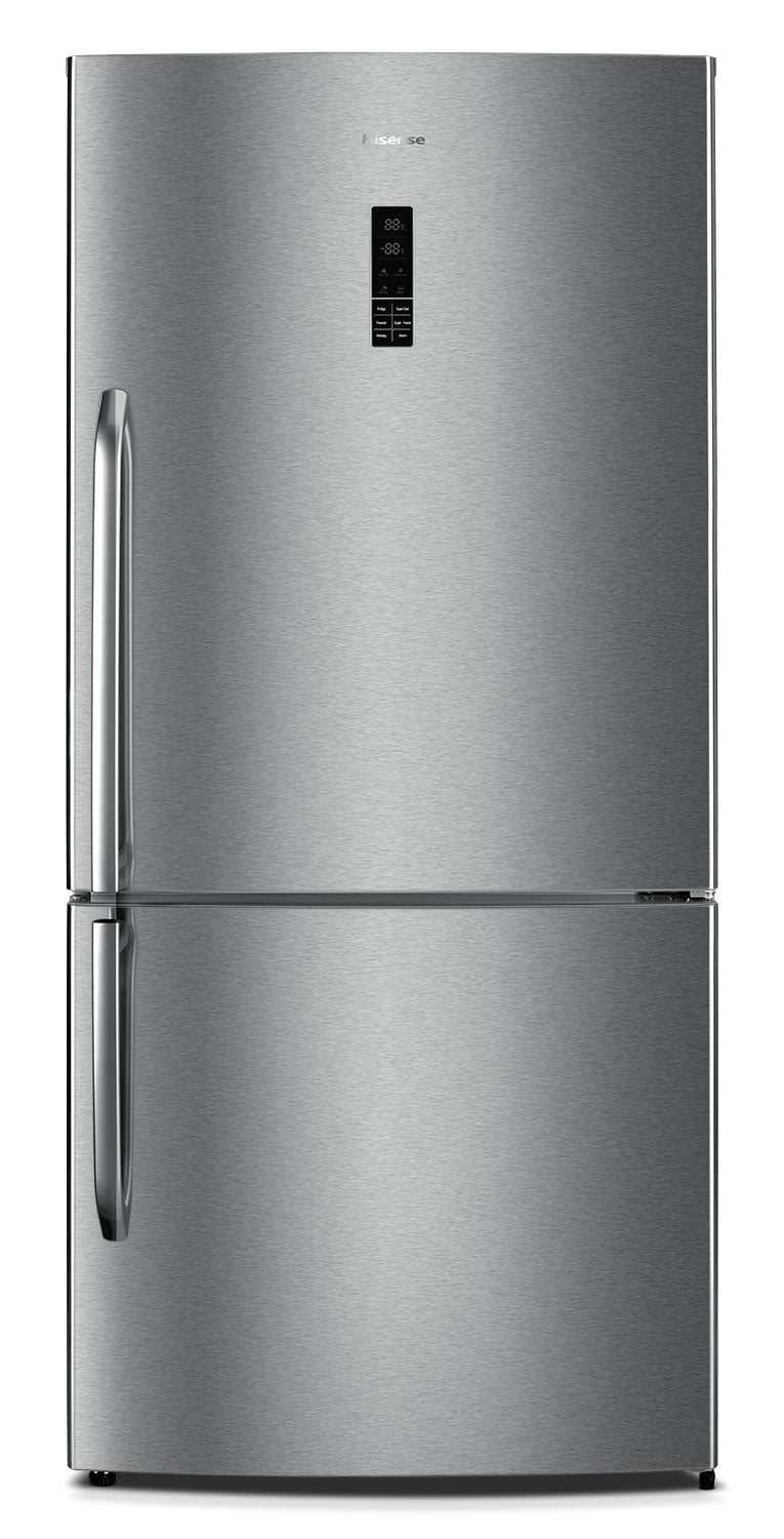 Hisense 17 Cu. Ft. Bottom-Mount Refrigerator with Right Door Swing – Stainless Steel