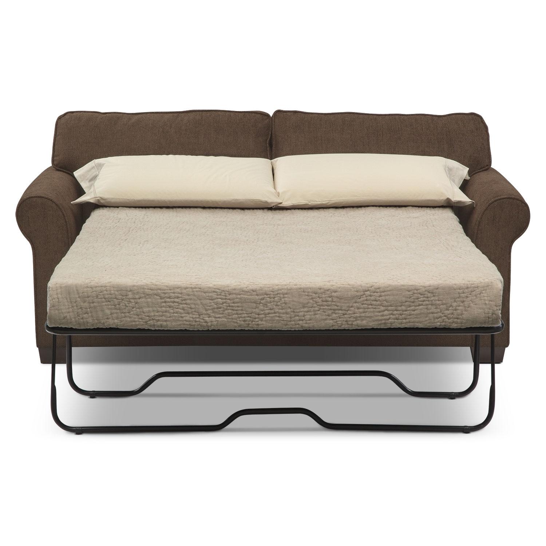 Fletcher Full Innerspring Sleeper Sofa - Chocolate | Value ...