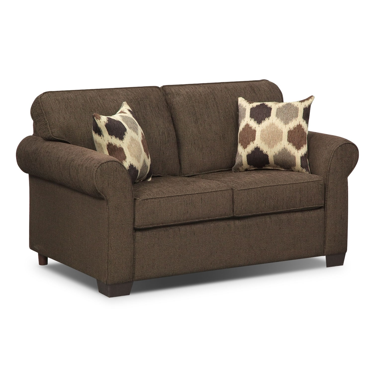 Fletcher Twin Memory Foam Sleeper Sofa Chocolate American Signature Furniture